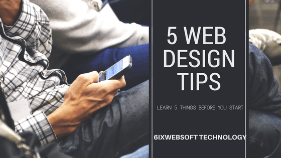 5 Tips of Web Design